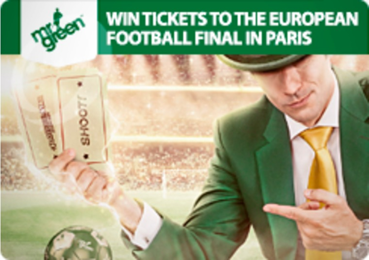 Win dream tickets to the final of Euro 2016 with Mr Green