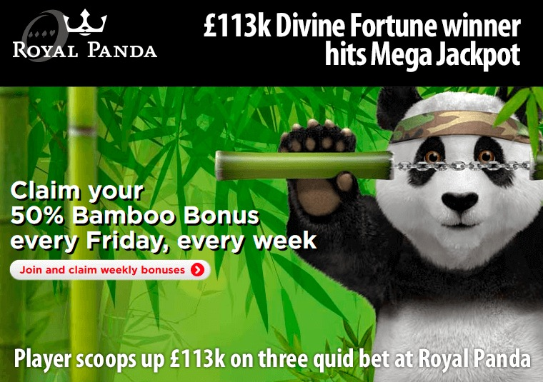 Player scoops up £113k on three quid bet at Royal Panda