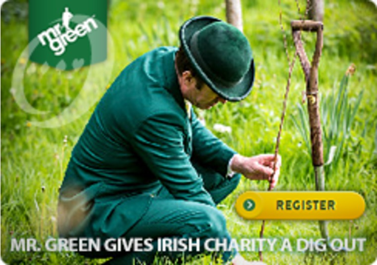 Mr Green Goes Green on Ireland's Green Fields