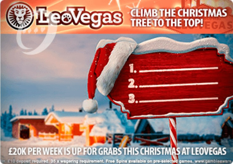 £20k per week is up for grabs this Christmas at LeoVegas