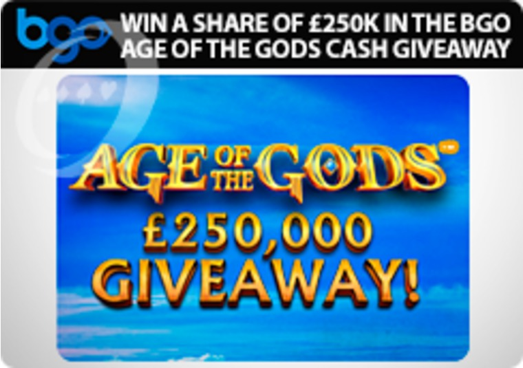 Win a share of £250k in the bgo Age of the Gods cash giveaway
