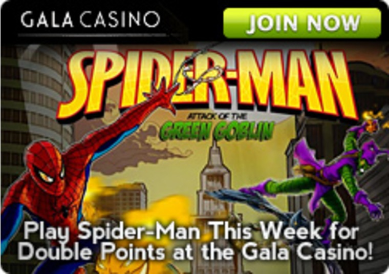 Play Spider-Man This Week for Double Points at the Gala Casino
