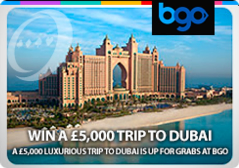 A £5,000 luxurious trip to Dubai is up for grabs at bgo