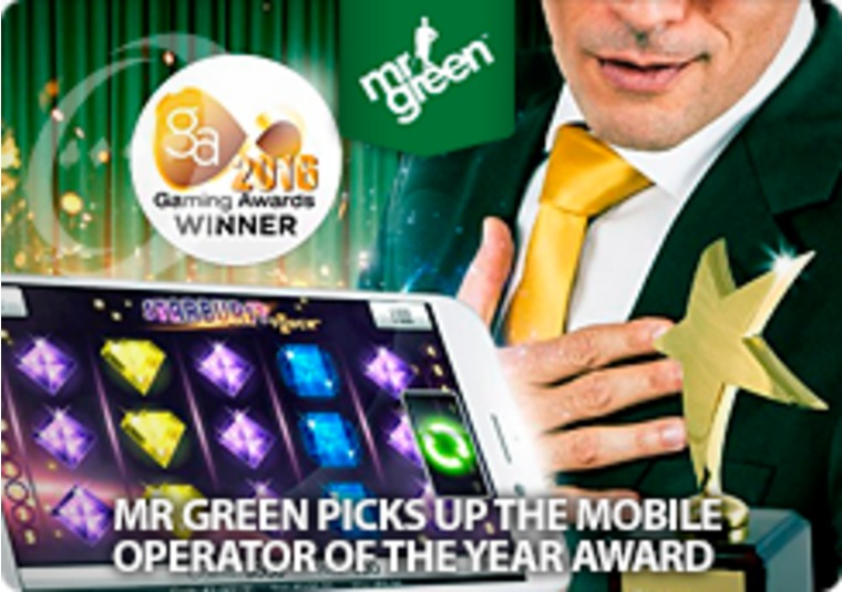 Mr Green picks up the Mobile Operator of the Year award