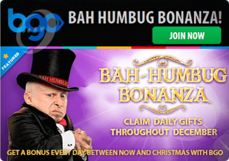 Get a bonus every day between now and Christmas with bgo