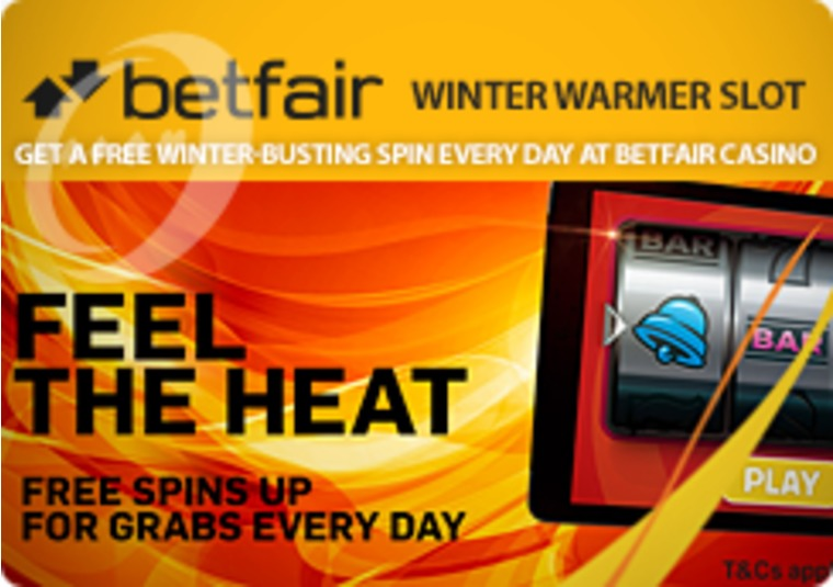 Get a free winter-busting spin every day at Betfair Casino