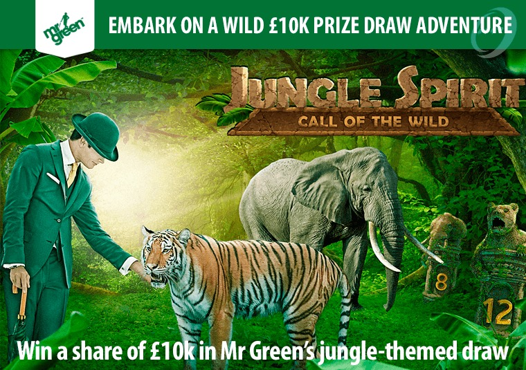 Win a share of £10k in Mr Green's jungle-themed draw