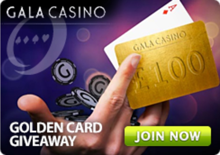 Play Live Blackjack at Gala Casino, Get a Golden Card, and Win Cash