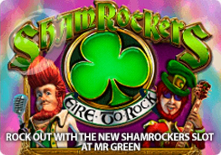 Rock out with the new Shamrockers slot at Mr Green