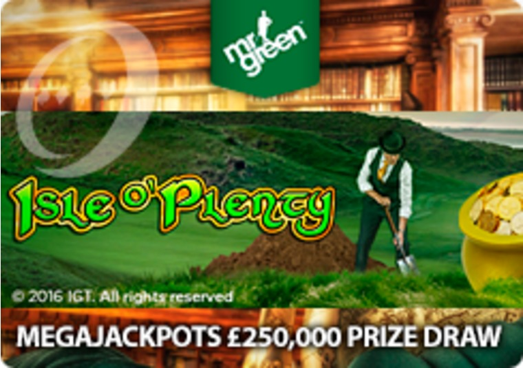Win your share of £250k at Mr Green this March