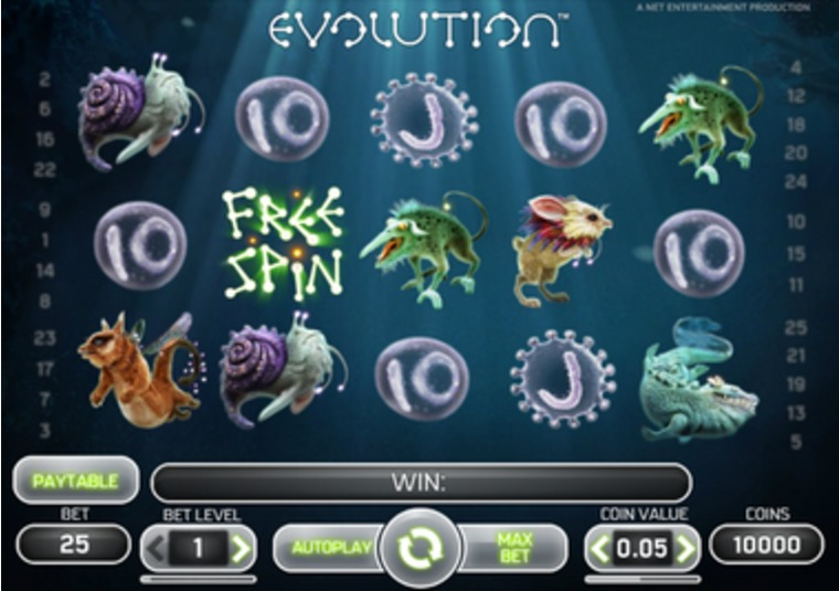 Evolution Slot at Mr Green