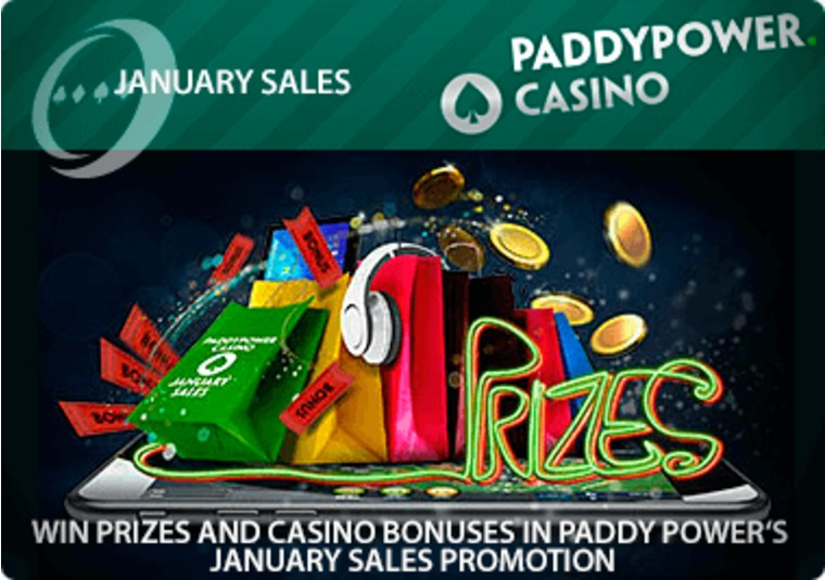 Win prizes and casino bonuses in Paddy Power's January sales promotion