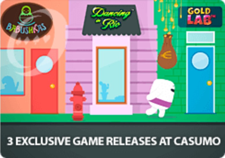 Be the first to play three new games at Casumo