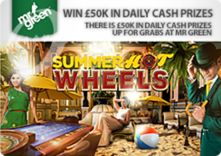 There is £50k in daily cash prizes up for grabs at Mr Green