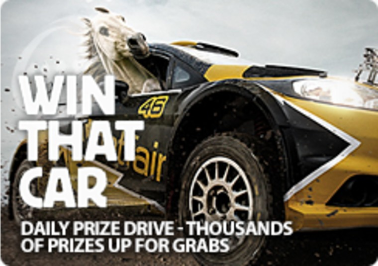 Win prizes, including a car, on Betfair Casino's Daily Prize Drive
