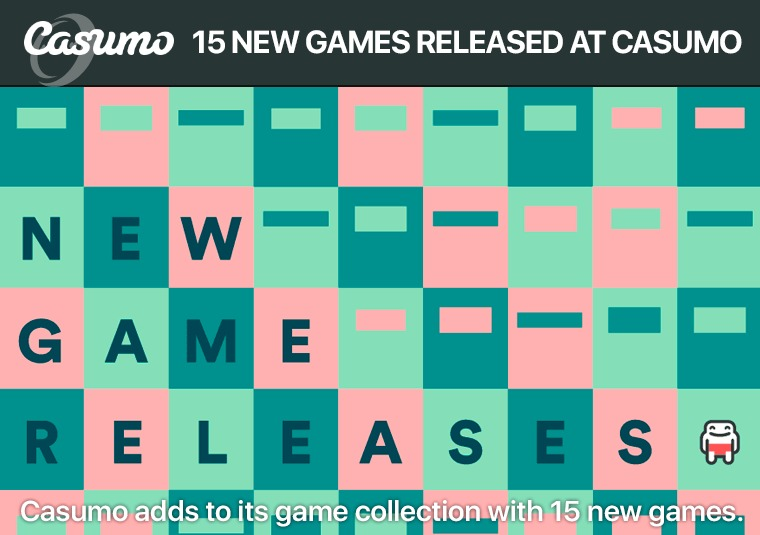 Casumo adds to its game collection with 15 new games