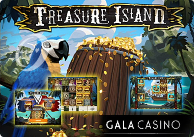 Set the Treasure Island Slot into Motion at the Gala Casino