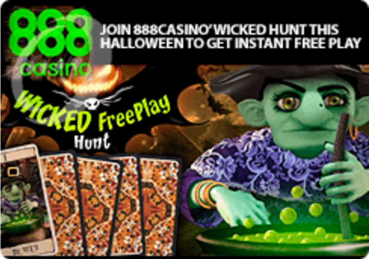 Join 888casino's wicked hunt this Halloween to get instant free play