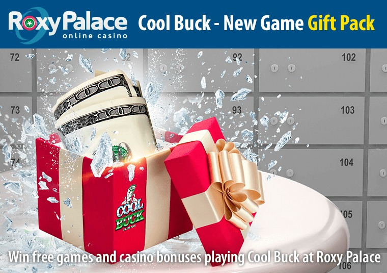 Win free games and casino bonuses playing Cool Buck at Roxy Palace