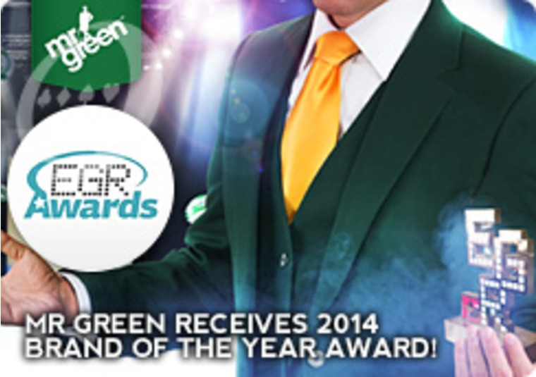 Mr Green Receives 2014 Brand of the Year Award