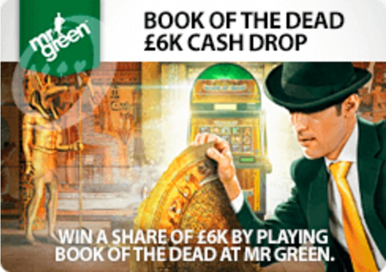 Win a share of £6k by playing Book of the Dead at Mr Green