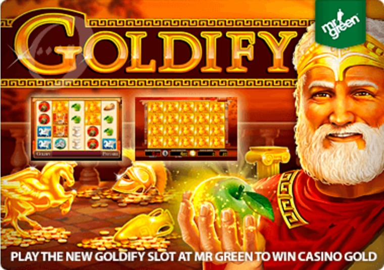 Play the new Goldify slot at Mr Green to win casino gold
