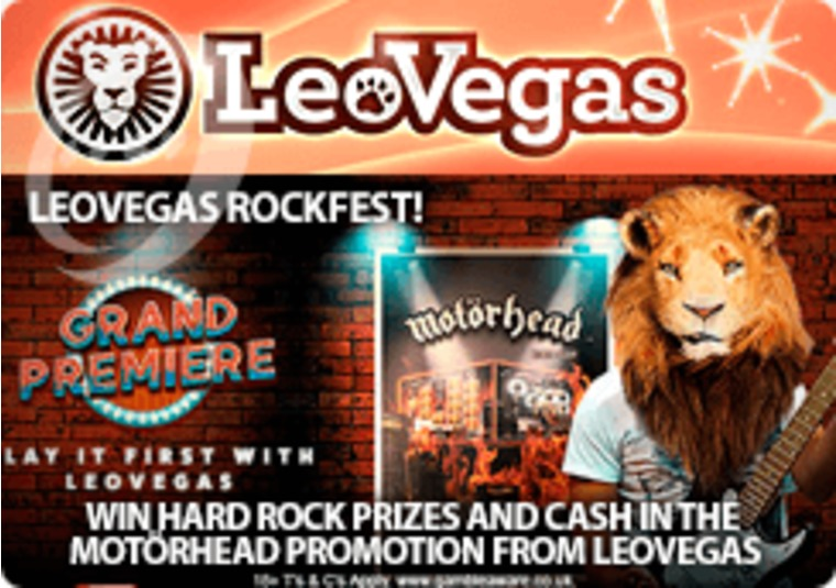Win hard rock prizes and cash in the Motörhead promotion from LeoVegas