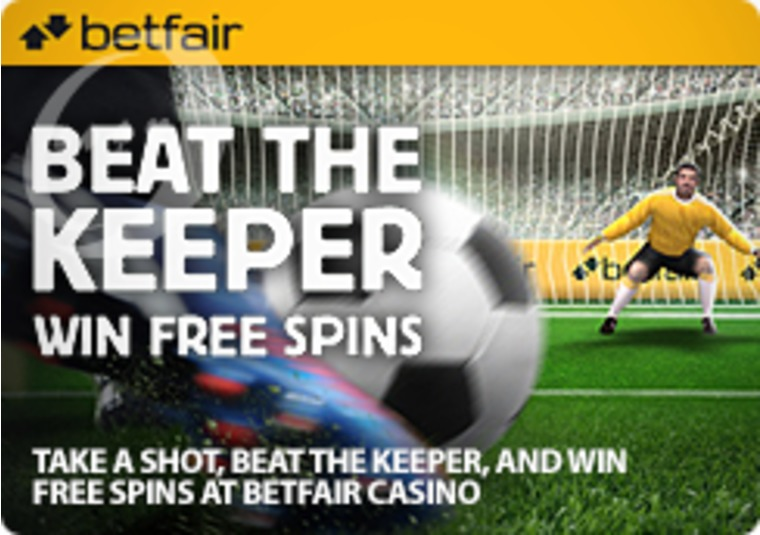 Take a Shot, Beat the Keeper, and Win Free Spins at Betfair Casino