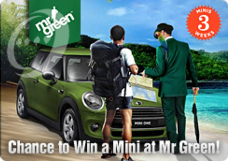 Chance to Win a Mini at Mr Green