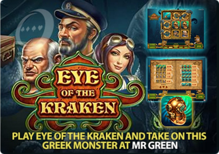 Play Eye of the Kraken and take on this Greek monster at Mr Green