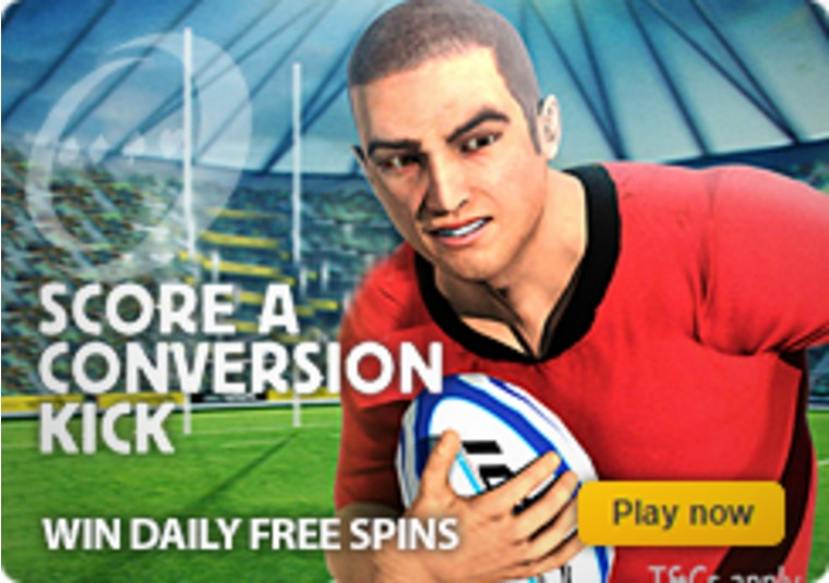 Get into the Rugby World Cup mood and win free spins at Betfair Casino