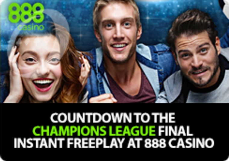 Countdown to the Champions League final Instant FreePlay at 888 Casino