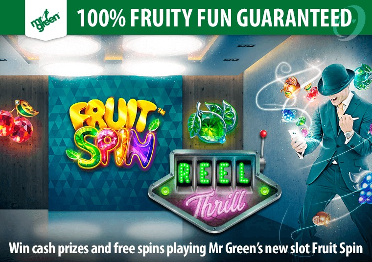 Play the new slot Fruit Spins at Mr Green