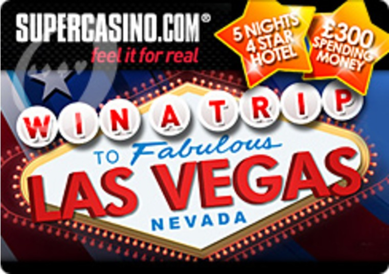 Win a Trip to Las Vegas at the Super Casino