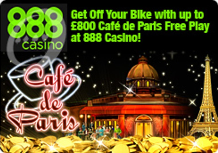Get Off Your Bike with up to £800 Café de Paris Free Play