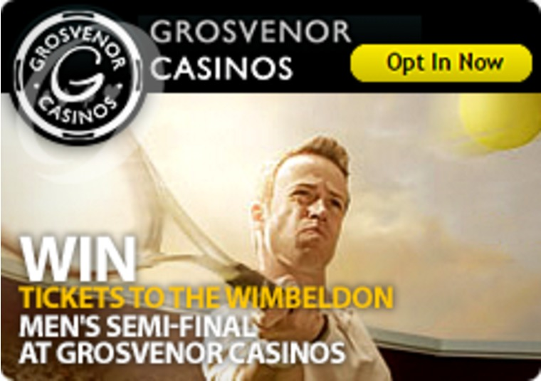Win Tickets to the Wimbeldon Men's Semi-Final at Grosvenor Casinos