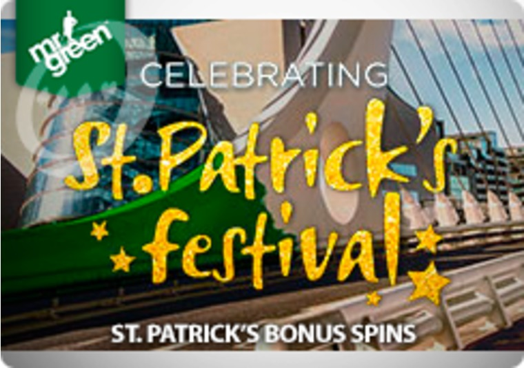 Celebrate St Patrick's Day with bonus spins at Mr Green