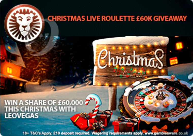 Win a share of £60,000 this Christmas with LeoVegas