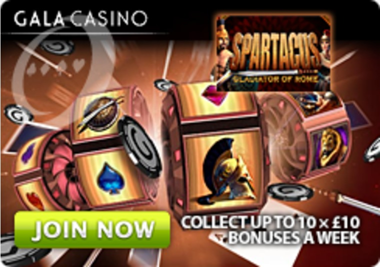 Get ten £10 bonuses every week to play at Gala Casino