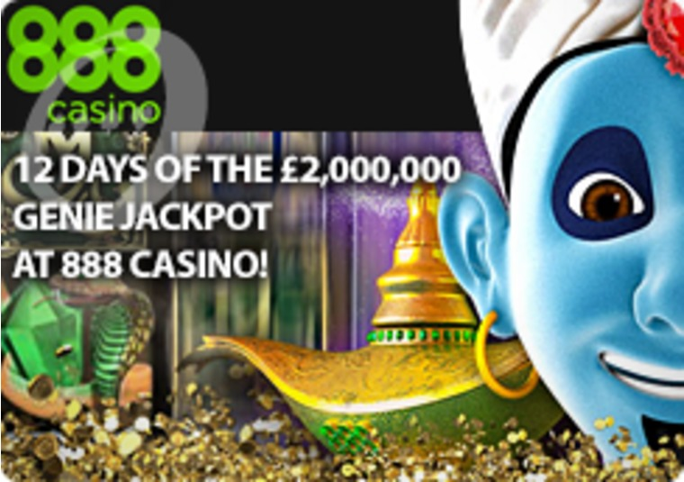12 Days of the £2,000,000 Genie Jackpot at 888 Casino