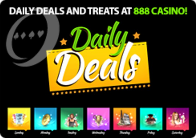 Daily Deals and Treats at 888 Casino