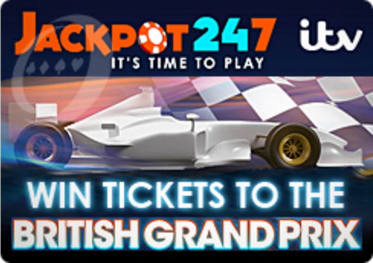 Jackpot 247 Offers Chance to Win British Grand Prix Tickets