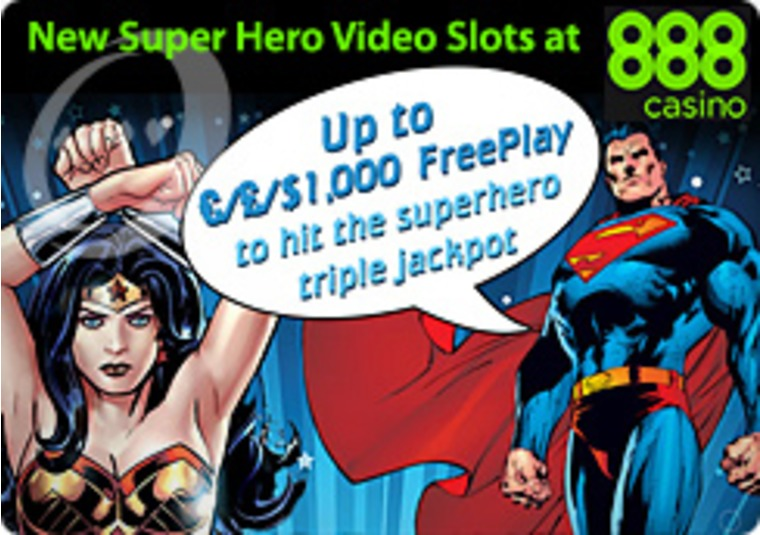 New Super Hero Video Slots at the 888 Casino
