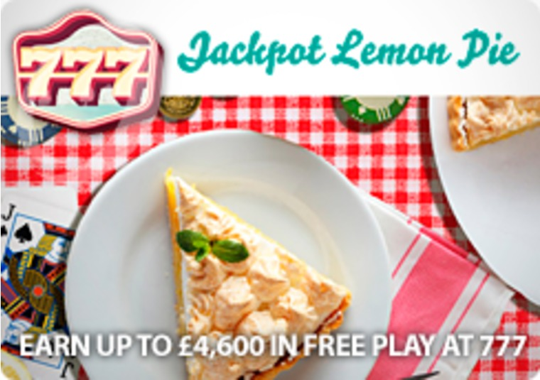 Earn up to £4,600 in free play at 777