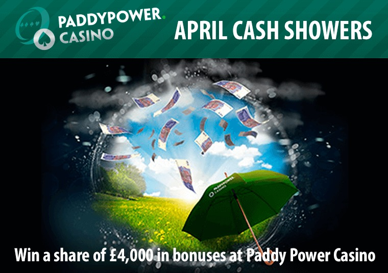 Win a share of £4,000 in bonuses at Paddy Power Casino