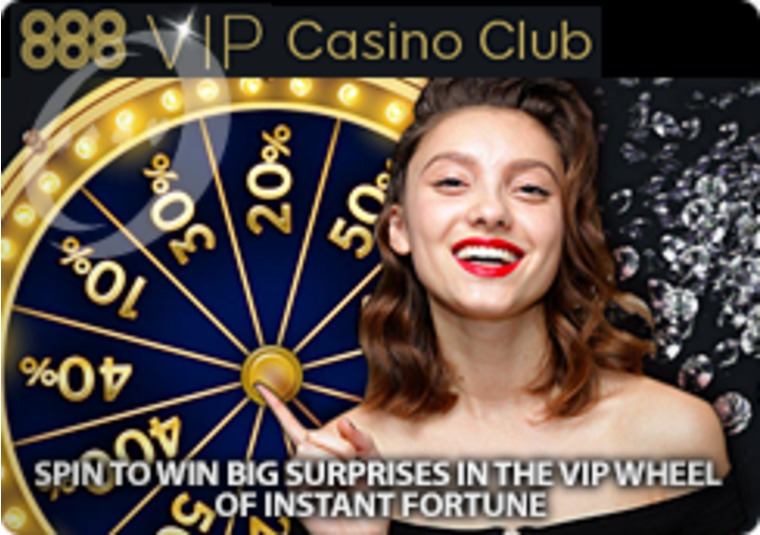 Get up to £2,016 in instant free play at the 888 VIP Casino Club