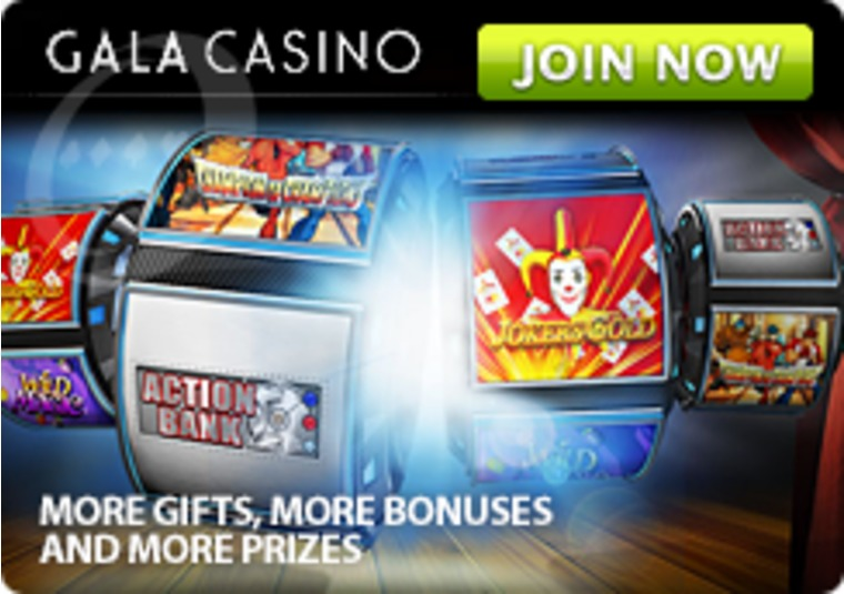 Play exclusive games at Gala Casino and get a bonus of up to £100