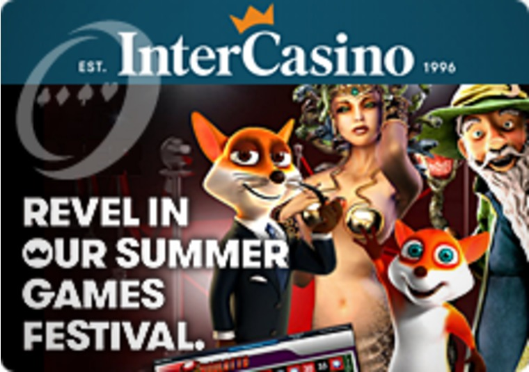 New Games and Lavish Bonuses at the InterCasino Summer Games Festival