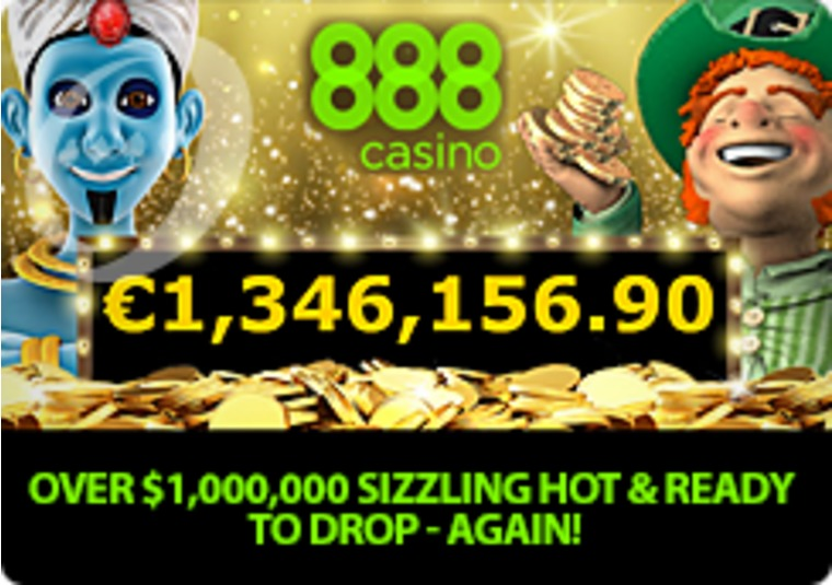 Get up to £100 FreePlay and you could become an 888casino millionaire