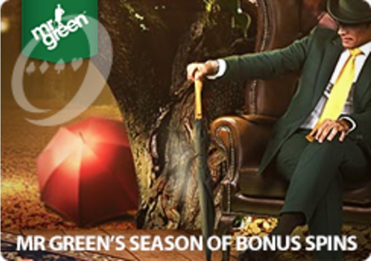 Get bonus spins every day during Mr Green's autumn promotion